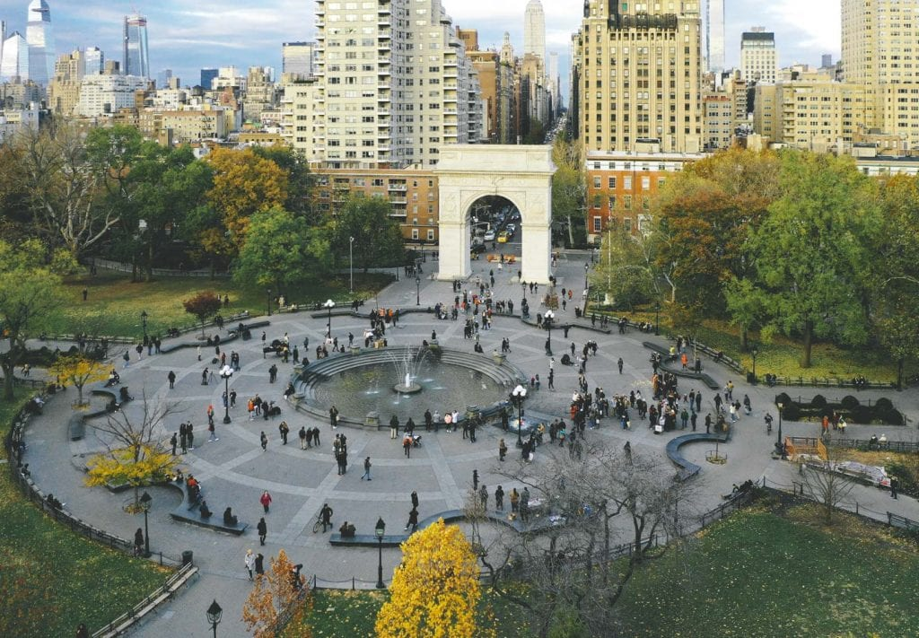 Washington Square Park in Greenwich Village, Manhattan, NYC