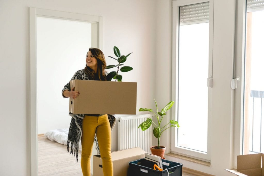 woman moving in Toronto