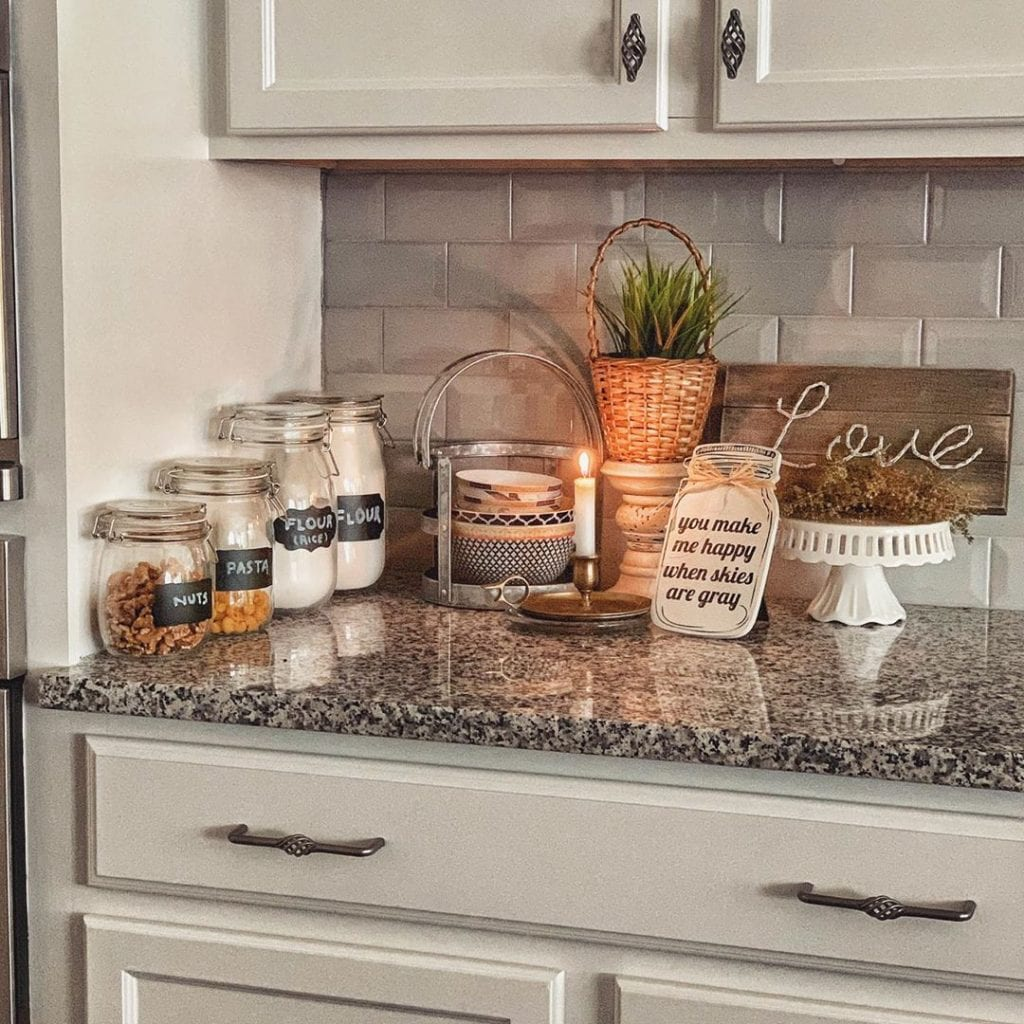 Displaying functional items in a small kitchen