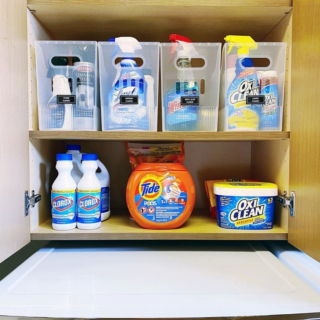 Disinfecting with coronavirus cleaning products
