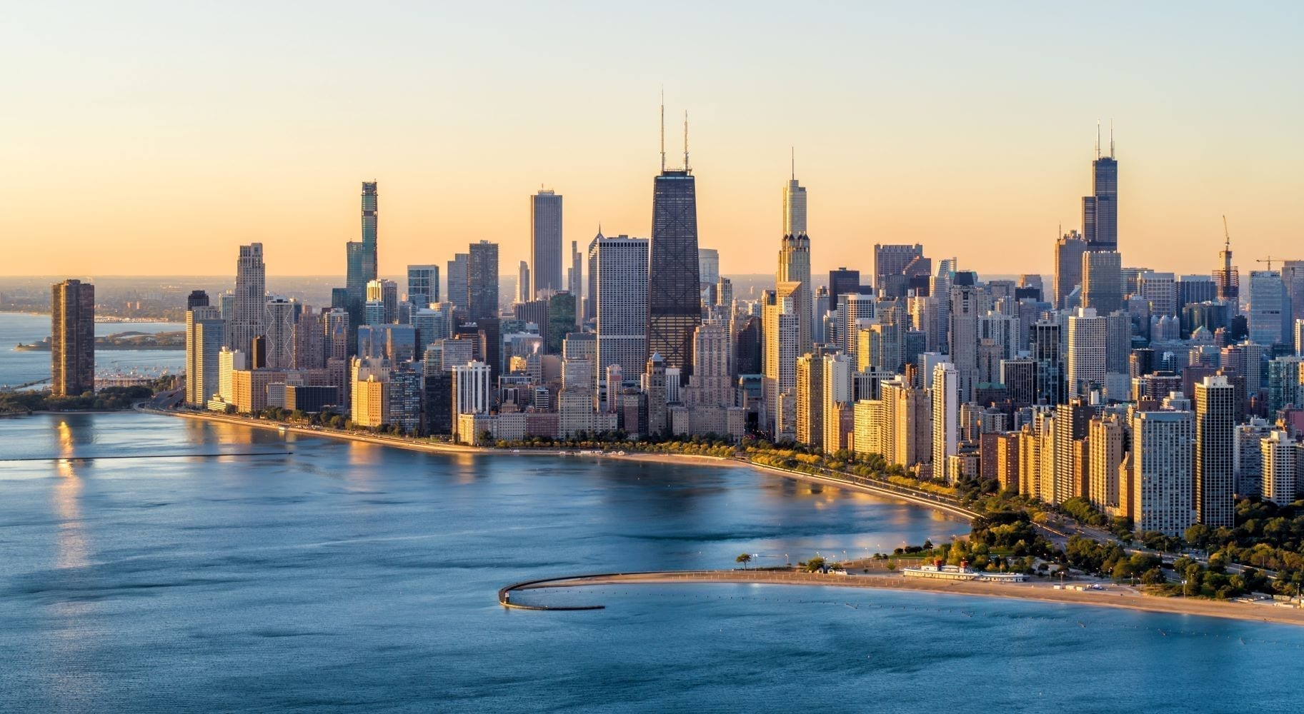Chicago's downtown skyline and waterfront