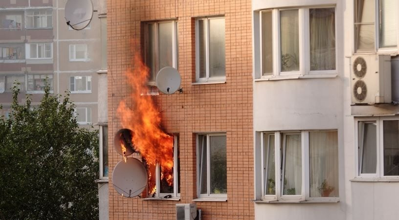 renters insurance will cover damage to your belongings in apartment fires like this
