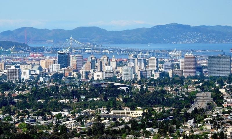 City of Oakland in East Bay San Francisco