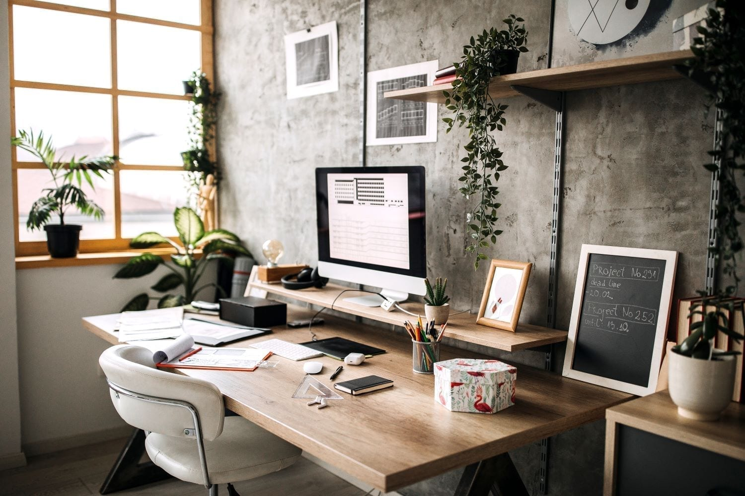 Inviting home office design