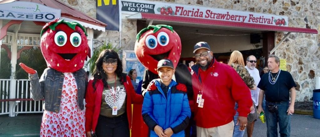 Family at Plant City Strawberry Festival
