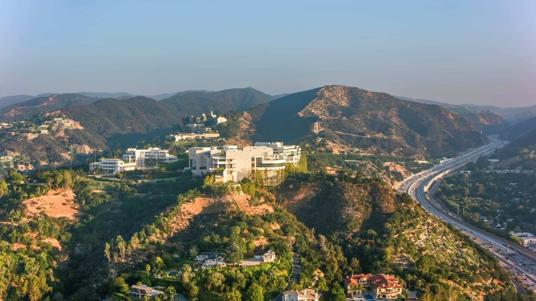 The Getty Center in Brentwood, Los Angeles, CA