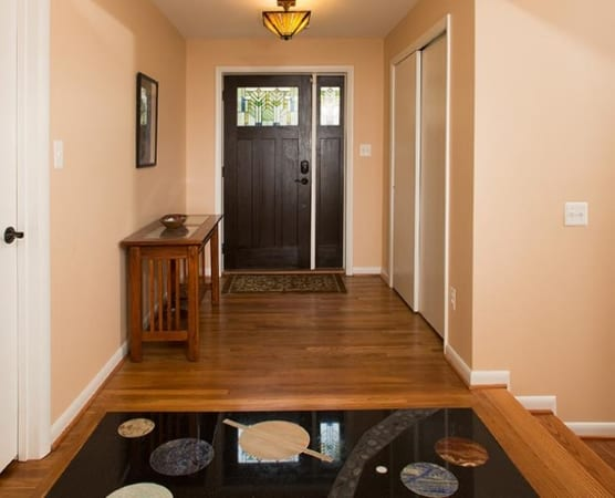 entryway in two story home addition
