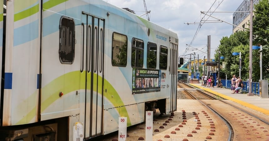 The Baltimore Light Rail is one of many modes of transportation available in the city.
