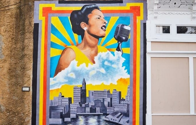 Billie Holiday mural in Baltimore